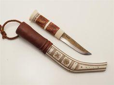 Halvhornskniv av Svante Larsson från Lappträsk på Tradera.com - Knivar