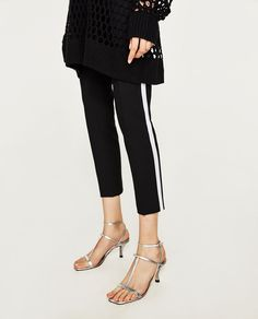TROUSERS WITH SIDE STRIPE-View All-TROUSERS-WOMAN | ZARA United States