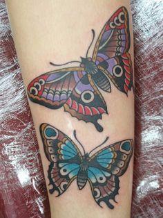 Vlinders tattoo