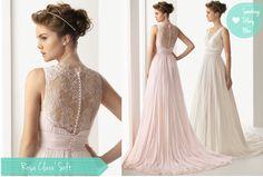 ABITI DA SPOSA 2014: ROSACLARÀ SOFT, PER UN VESTITO DALLE LINEE MORBIDE E SCIVOLATE By www.SomethingTiffanyBlue.com #wedding #thedress