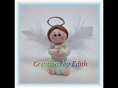 In Spanish only - Tutorial angel en porcelana fria o pasta de goma - YouTube - ****** Note: there is a different angel fondant topper over at my CAKE'S, CUPCAKE'S, HOLIDAY & OTHERWISE board that is in English.