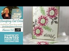 Stampin'Up! Painted Harvest color challenge - YouTube