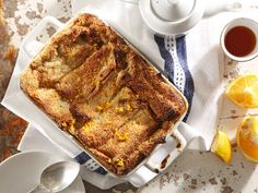 Orange and chocolate bread and butter pudding