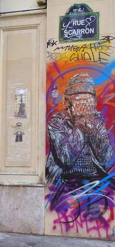 #streetart de C125, rue Scarron #Paris11 #PEAV @Menilmuche @kichoton