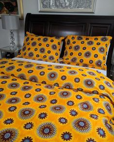 Includes a double-sided Duvet Cover and 2 Shams Snap Closure cotton Machine Washable Duvet Cover (in inches) Queen: 88 x 92 King: 90 x 104 Shams (in inches) Queen: 20 x 26 King: 20 x 36 African Bedroom, African Interior Design, Bed Cover Design, African Home Decor, Home Room Design, Home Decor Bedroom, Soft Furnishings, Duvet Cover Sets, Home And Living