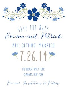 Save the Date or Shower Invitation Country by WhoaNelliePress