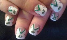 I wanna do this to my nails Saskatchewan Roughriders, Rough Riders, Nailart, Get Nails, Gel Nail Designs, Love Painting, Nail Inspo, Beauty Care, Green Colors