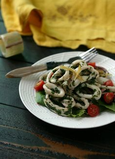 Herbed Calamari Salad with Preserved Lemons!