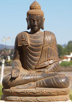 "View the Stone Varada Garden Buddha 40"""