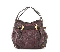 Gucci Mauve Croco Textile Jockey Anniversary Large Hobo Bag