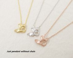 10pcs/lot Gold Silver Fox Tale Pendant Cute Korean by Jeparts, $4.99