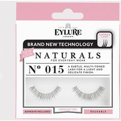 Eylure Flash Lashes No. 015 (8.09 AUD) ❤ liked on Polyvore featuring beauty products, makeup, eye makeup, false eyelashes and black