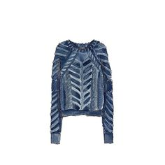 Good objects - Isabel Marant Knit Blue Sweater @isabelmarant #isabelmarant #fashionillustration #goodobjects