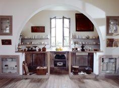 kitchen in a barn