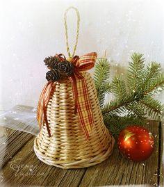 Новый год 2016 ручной работы. Ярмарка Мастеров - ручная работа. Купить Колокольчик плетеный Праздничный. Handmade. Колокольчик плетеный, на дверь