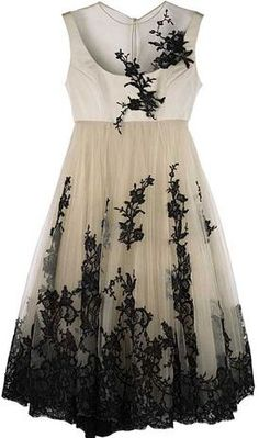 Alexander McQueen Embroidered Tulle Gown,