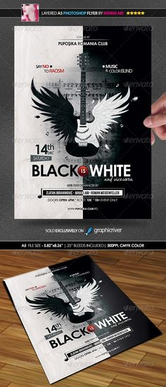 Music Is Color Blind Poster/Flyer — Photoshop PSD #private party #concert promotional • Available here → https://graphicriver.net/item/music-is-color-blind-posterflyer/6076659?ref=pxcr