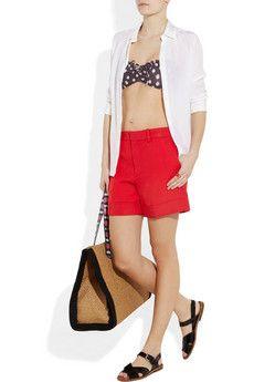 Memorial Day poolside look--Paul Sister bikini, Marc by Marc Jacobs shorts!