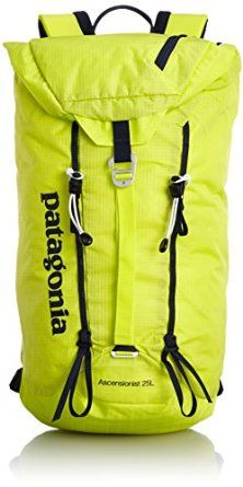 The Patagonia 25L Ascensionist Daypack will challenge your climbing cohorts for MVP when tackling Independence Monument in Colorado. With an ergonomic shoulder harness and a removable waist belt, this efficient pack holds everything you need for a day on the rise. Spread the asymmetrical opening wide as you cram ropes, shoes, snacks, and sunscreen into the bag. A drawstring pulls shut with a single hand so you gear doesn't go anywhere. Crafted from robust fabrics, this lofty little number…