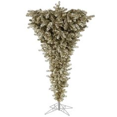 Vickerman 75 Unlit Champagne Upside Down Artificial Christmas Tree *** Check this awesome product by going to the link at the image.