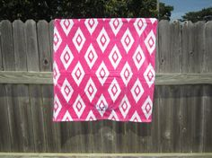Monogrammed Beach Towel  Ikat by TheInitialGift on Etsy
