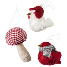 Bird/Toadstool Ornament