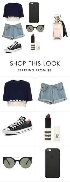 """""""Untitled #69"""" by karenrodriguez-iv on Polyvore featuring Topshop, Converse, Forever 21, Black Apple, women's clothing, women's fashion, women, female, woman and misses"""