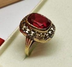 Vintage Ringe - Ring Gold 333 Rubin Shabby Vintage alt rar GR412 - ein Designerstück von Atelier-Regina bei DaWanda