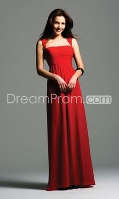 US $149.99 Free Shipping Column Floor-length Evening Dresses Cheap Red Square Neck. Bridesmaids