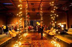the cream event - hanging lights for ballroom as divider or around dance floor?