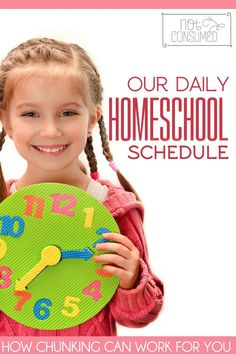 """When life is crazy, homeschooling can be even crazier. Our """"chunking"""" schedule was the answer for one of the hardest seasons on our life.  See how chunking might work for you!"""
