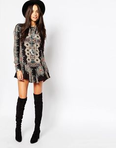 Free People Smooth Talker Floral Print Tunic Dress 10 variations and colours #FreePeople #Tunic #Casual