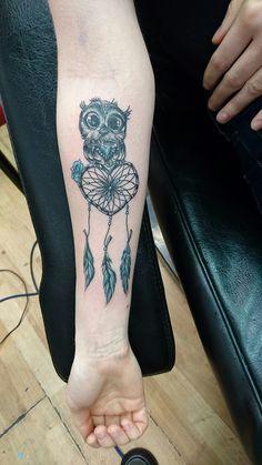 Owl dream catcher tattoo