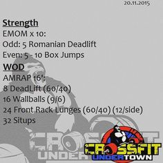 #wod #cftundertown #crossfit #workout #conditioning #barbells #gymnasticswod…