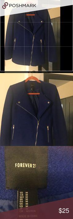 Forever 21 royal blue jacket. Royal blue forever 21 jacket Forever 21 Jackets & Coats