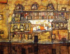 Egon Schiele - casas amarelas