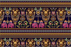 Indian Seamless Pattern by Sunny_Lion on @creativemarket