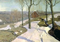 Purva Wilhelm - Last Snow. 200 Russian painters • download painting • Gallerix.ru