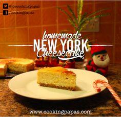 Easy New York Cheescake, recipe >>> www.cookingpapas.com