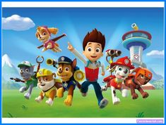 🎂 The perfect addition to your Paw Patrol Party! 🎂 This Paw Patrol Invitation will help make your party an unforgettable experience! Bolo Do Paw Patrol, Cumple Paw Patrol, Paw Patrol Pups, Paw Patrol Cake, Paw Patrol Party, Paw Patrol Birthday, Puppy Patrol, Birthday Cake Toppers, Cupcake Toppers