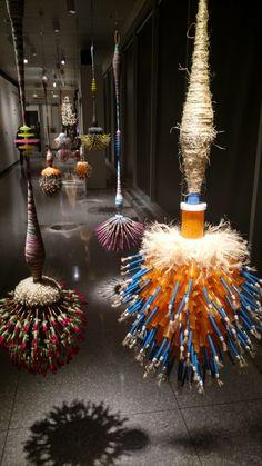 Joel S. Allen Hooked on Svelte series fiber arts lighting and arrangement