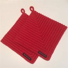 Opskrift på kraftige grydelapper Crochet Home, Knit Crochet, Diy Projects To Try, Sewing Projects, Knitting For Charity, Crochet Potholders, Hot Pads, Chrochet, Learn To Crochet