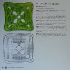 Building Block - from The Granny Square Book by Margaret Hubert #crochetmoodblanket2014 granny square crochet pattern