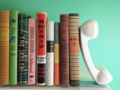 upcycled Telephone Bookends