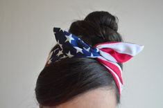 Hey, I found this really awesome Etsy listing at https://www.etsy.com/listing/174425896/patriotic-dolly-bow-headband-american
