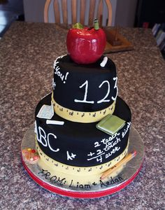 Airbrushed black, with all fondant decor.  Apple is RKT covered in fondant.