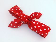 Baby Toddler Pretied Head Scarfs Red with White by Lorettajos, $12.00