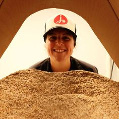 @alch3mistb33r Can you tell that Chelsea loves brewing? This is how she looks after mashing in Crusher, which is moving about 1.5 tons of grain into the hopper.