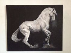 Pop-Up Equine Art Lesson with Tony O'Connor 'Power' Part 5/10: Oh suits you sir! Got shhtuck into this today. Would say I'm half way there to being finished. Coming along nicely methinks! Am beginning to love this piece!