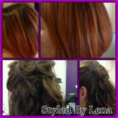 Copper ombre, concave Bob and style - 21st up style formal occasion